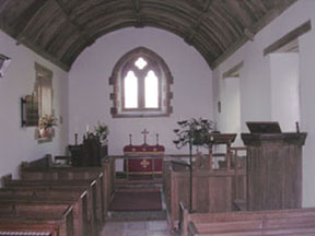 Inside Stoke Pero Church